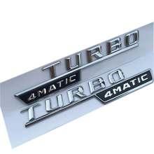 10 pares/lote ABS Embleme Para TUR-BO 4MATIC Emblema Emblema Emblema Autocolante Embleme