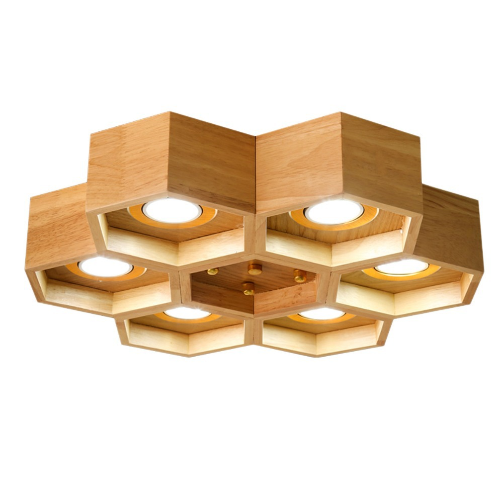 aliexpress : buy kc brief natural wood ceiling lights beehive