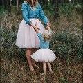 Мамы и Меня Наряды Балерина Соответствие Принцесса Туту Полный Тюль юбки для Матери и Дочери для Детей и Взрослых Размер Пухлые нижняя юбка
