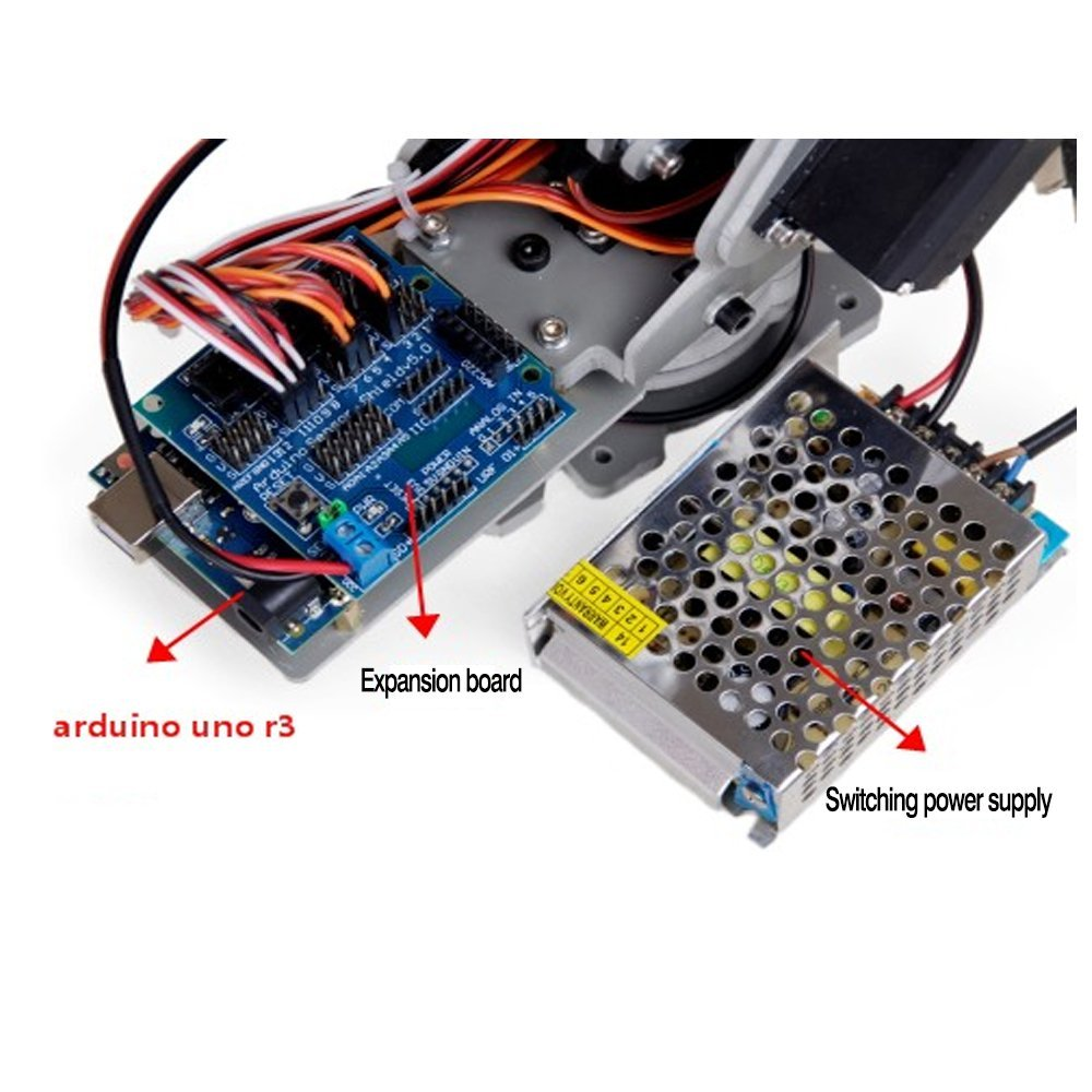 Irb460 4 แกนอุตสาหกรรมหุ่นยนต์ DIY Control Palletizing หุ่นยนต์สำหรับ Arduino UNO MEGA2560 ที่มีแหล่งจ่ายไฟ + controller-ใน ชิ้นส่วนและอุปกรณ์เสริม จาก ของเล่นและงานอดิเรก บน   2