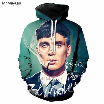 TV Peaky Blinders 3D Print Jacket Men/women Hiphop Streetwear Sportswear Hoodies Boy Modis Tracksuits Man Smoking Clothes 5XL