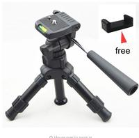 Lightweight Camera Compact Aluminum Desktop Mini Tripod with Pan Head for Canon Nikon DSLR Cameras