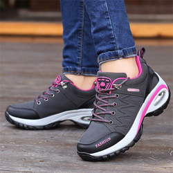 shoes woman Outdoor Casual shoes Leather suede Brand fashion Sneakers woman outdoor non-slip air damping tenis feminino casual 2