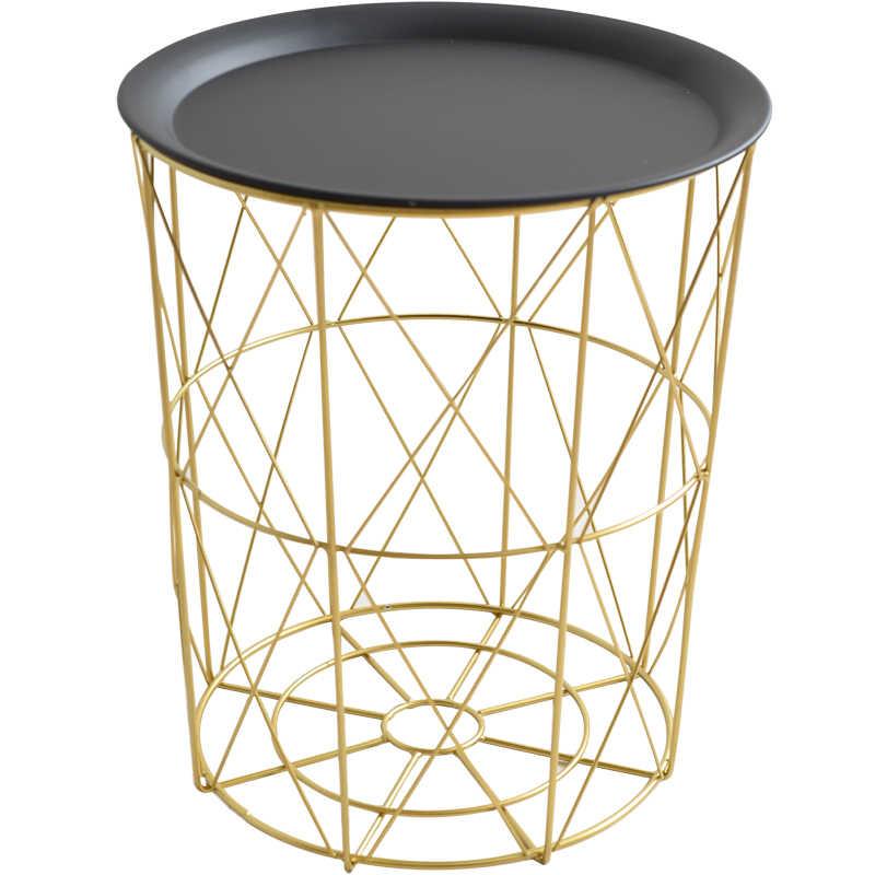 Louis Moda Estilo Nórdico Criativo Arte Inclui Cestas De Ferro Moderna Mesa de Chá Pequena Decoração da Sala de estar Sofá de Canto Lado