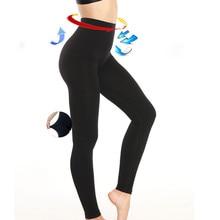 NINGMI Women Slimming Legging High Waist Trainer Modeling Body Shaper Elastic Tight Slim Leg Tummy Control Panties Trouser Black
