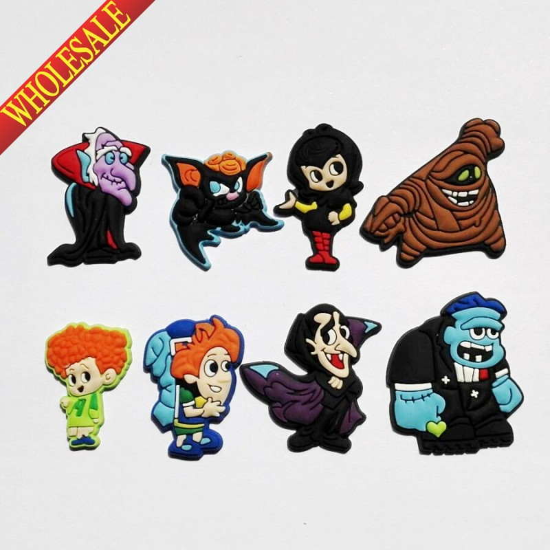Wholesale 100PCS  Hotel Transylvania PVC shoe charms shoe accessories shoe buckle for wristbands bracelets croc kids party ift free shipping new 100pcs avengers pvc shoe charms shoe accessories shoe buckle for wristbands bands
