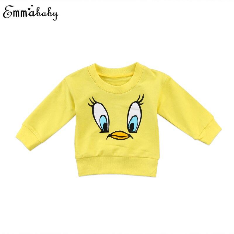 Kawaii Kids Hoodies Baby Girls Boys Cartoon Top Long Sleeve Sweatshirts Cartoon Hoodie Pullover Jumper Clothes 6M-5T