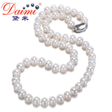 DaimiPearl Fashion Pearl Choker Necklace Big White Freshwater Natural Pearl Necklace Women Chain Jewelry Accessories NFP195