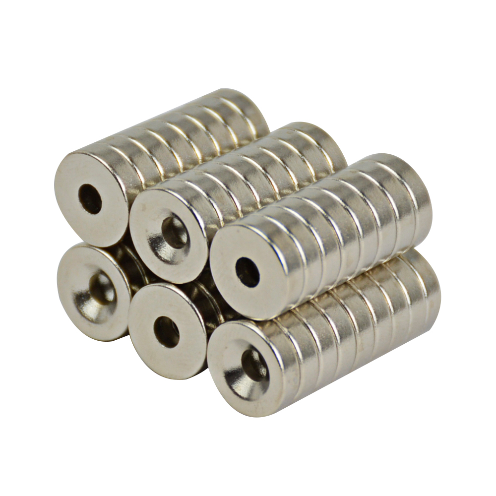 100pcs N50 Super Strong Round Neodymium Countersunk Ring Magnets 10mm x 3mm Hole 3mm Rare Earth qs 3mm216a diy 3mm round neodymium magnets golden 216 pcs page 9