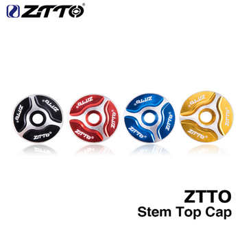 1pcs ZTTO MTB Bicycle Headset stem fork Top Cap 1-1/8 Threadless Headsets Parts Mountain Bike Road Aluminum Cover image