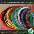 5M 16.4FT -26 AWG Flexible Silicone Wire RC Cable 26AWG 30/0.08TS OD 1.5mm Tinned Copper Wire With 10 Colors to Select