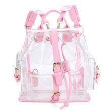 XINIU женщина рюкзак женская прозрачного пластика видеть сквозь Безопасности прозрачный рюкзак сумка дорожная сумка Mochilas feminina #240
