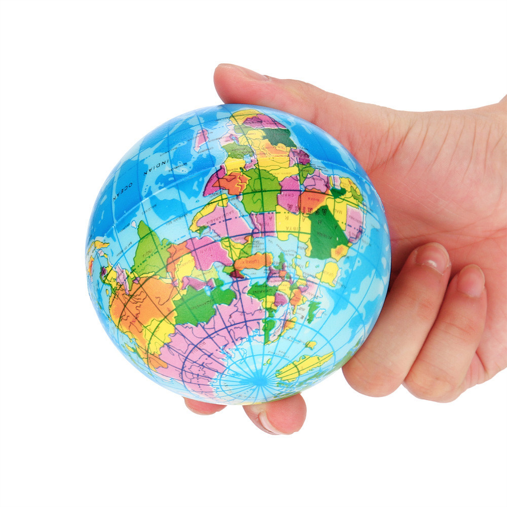 USPS squishy squeeze oyuncak slime gadgets squeeze antistress Relief World Map Foam Ball Atlas Globe Palm Ball Planet Earth 2pcs stress relief world map jumbo ball atlas globe palm ball planet earth ball stress relief slow rising squishies toys