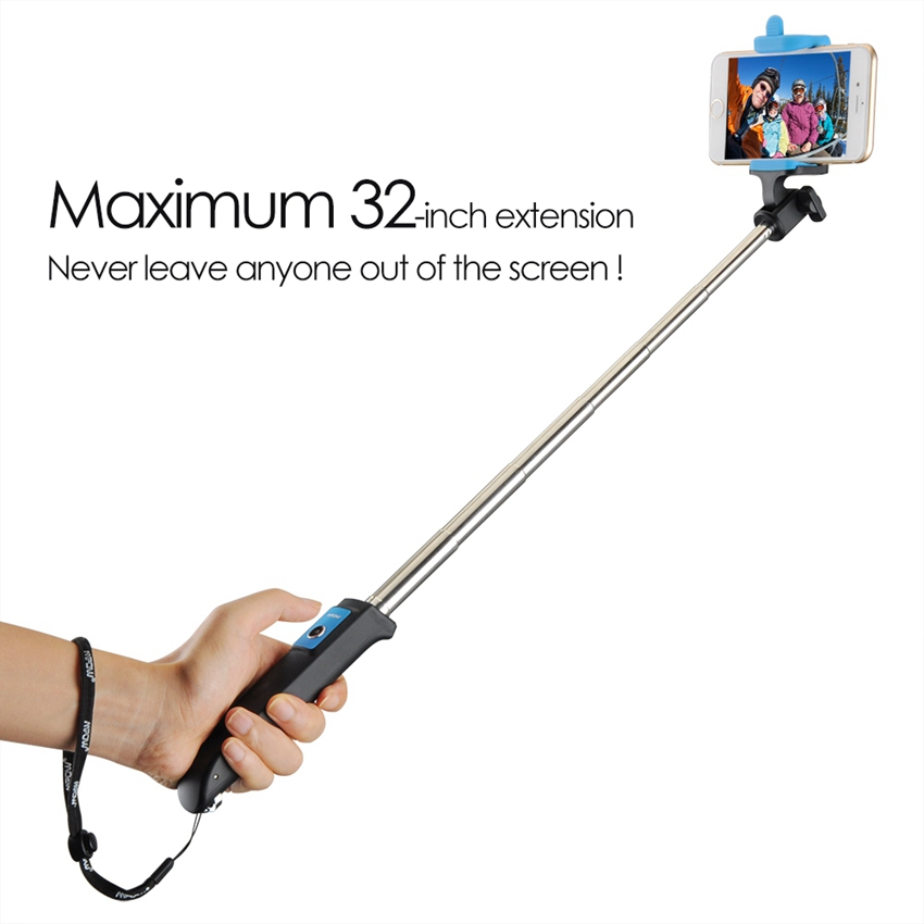 mpow mbt12 self selfie stick bluetooth remote wireless monopod for iphone 7 6 6s plus samsung. Black Bedroom Furniture Sets. Home Design Ideas