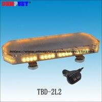 TBD-2L2 Amarelo mini Led barra de luz/luz de advertência âmbar/DC12V/24 V Amer LEVOU barra de luzes de advertência/Heavy base magnética CONDUZIU A luz