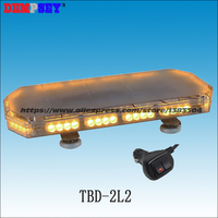TBD 2L2 Yellow Led mini lightbar/amber warning light/DC12V/24V Amer LED warning lightbar/Heavy magnetic base LED light