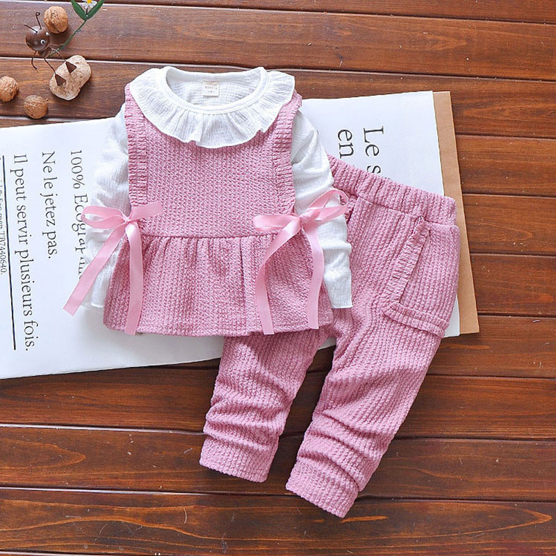 Autumn spring newborn baby girl clothes set outfit outerwear 3 pcs suit girl child Christmas birthday sports suit clothing sets 2016 christmas newborn infant baby boy girl clothes love heart bodysuit romper pant hat 3pcs outfit autumn suit clothing set