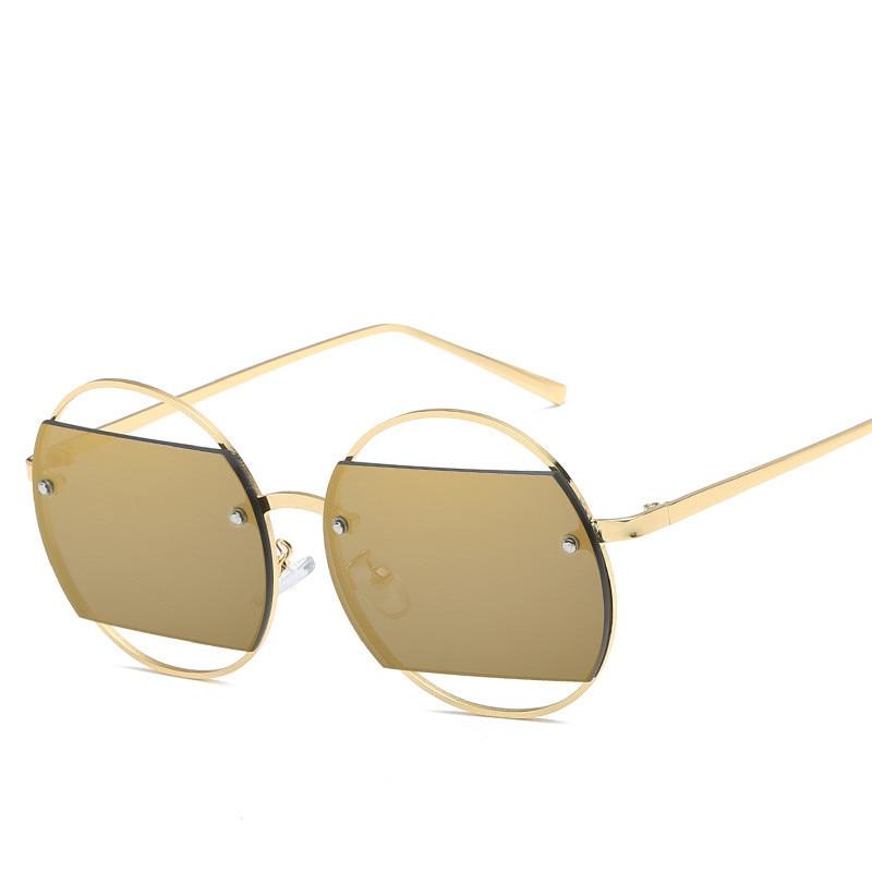 c2789c30b36aee 2019 Nouveau Luxe Vintage lunettes de Soleil Rondes Femmes Hommes Marque  Designer Rétro Creux Unisexe Lunettes