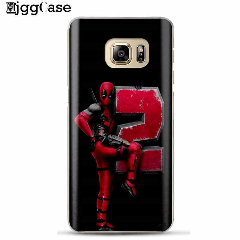 De silicona suave TPU teléfono caso Funda Samsung Galaxy A5 A7 2017 A6 A8 más J6 2018 carcasa de teléfono genial funda para teléfono Marvel Deadpool