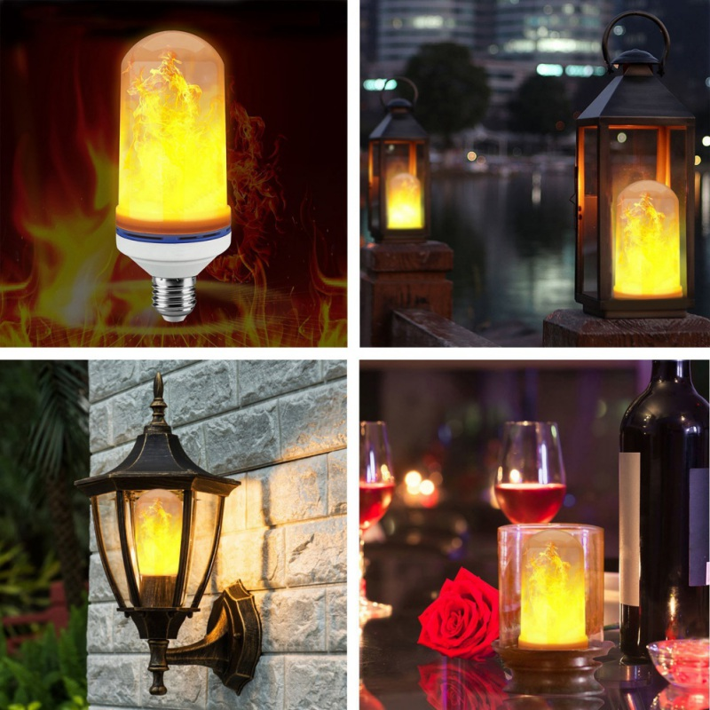 Lighting E27 E26 LED lamp Flame Effect Fire Light Bulbs 7W Flickering Flame Lights AC95-265V Courtyard Indoor decoration
