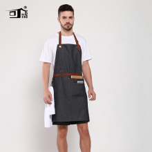 Original KEFEI Amazon Apron Cotton Denim Restaurant with Belt Work Butchers Waiter Aprons for Woman
