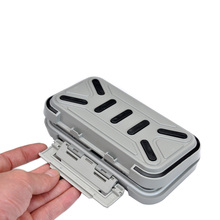 Top Quality! Waterproof Plastic Impact Resistant Fly Fishing Box Fishing Tackle Box Spinner Bait Minnow 16.5 * 9.3 * 4.5cm