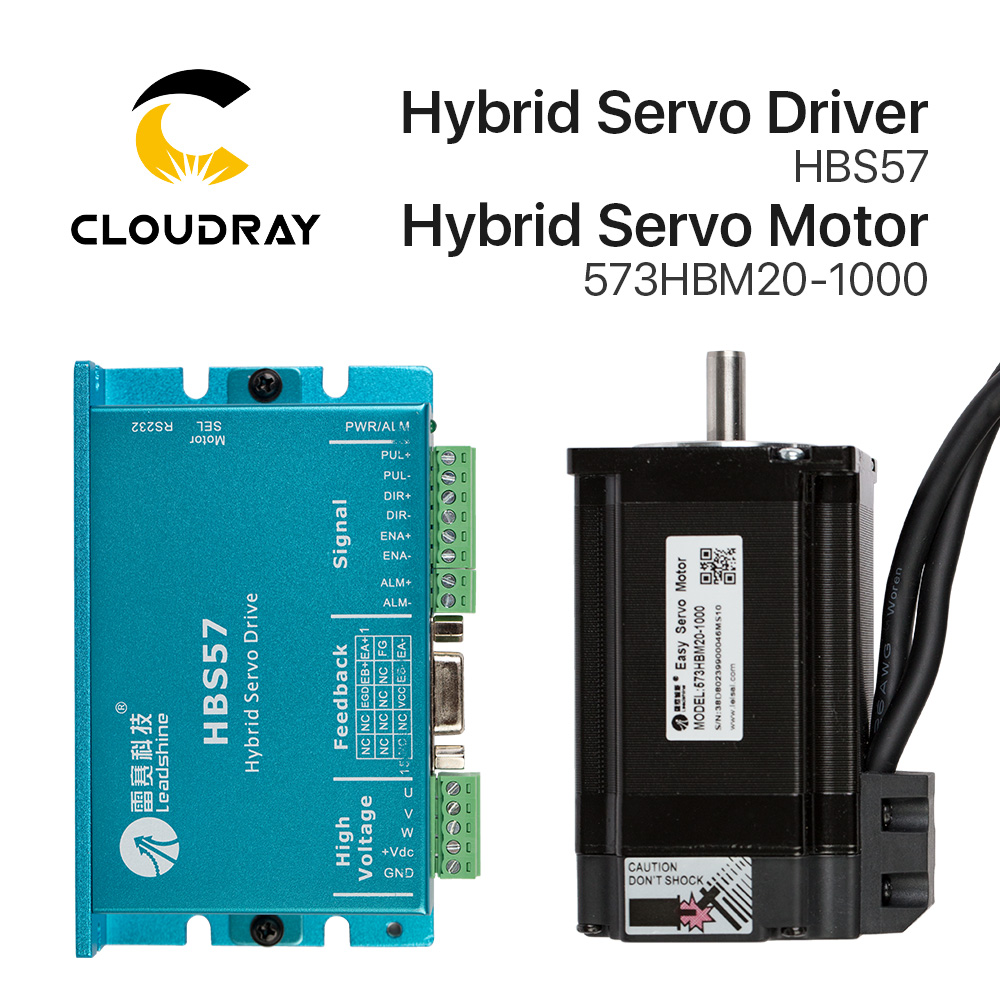 Cloudray Leadshine HBS57+573HBM20-1000 HBS507 Nema23 3 Phase Hybrid Servo Closed Loop