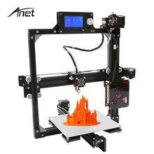 Estructura de Aluminio de Tamaño A2 Impresora 3D Big & Small Anet Kit DIY LCD 12864 Pantalla i3 Impressora Impresoras de Gran tamaño