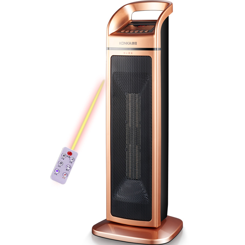 Konka Household Golden Vertical Electric Heater 2000W 220V Rotate Office Electric Heater Energy Saving Mute Heater fimei 2000w 220v electric portable heater intelligent constant temperature mini radiator home energy saving oil baseboard heater