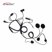 1pc Motorcycle Half close Helmet Headset Microphone 3.5mm/K1 Plug MIC HF 3.5L+K1 for radio Baofeng TYT /Mobile Phone
