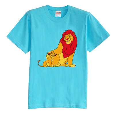 Children's T shirt summer short sleeve 100% cotton boy girl kid t shirt The Lion King Simba