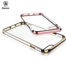 Baseus Чехол Для iPhone 7 Крышка Для iPhone 7 Plus Дело Против царапин Гальванических ТПУ Защитный Телефон Сумка Shell Бесплатная Доставка