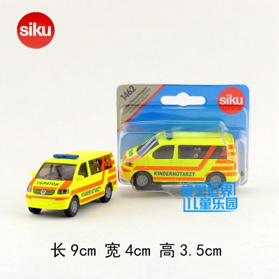 Siku 1462/Diecast Metal Model/Volkswagen Kid Ambulance/Educational German Toy Car for childrens gift/Collection/Small