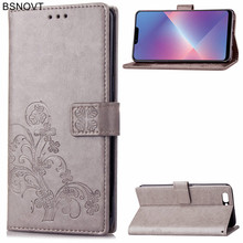 For OPPO A5 Case Soft Silicone Luxury PU Leather Card Holder Anti-knock Cover Phone Bag BSNOVT