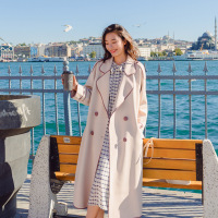 Windswear Ladies'Long Spring And Autumn New Loose Casual Coat