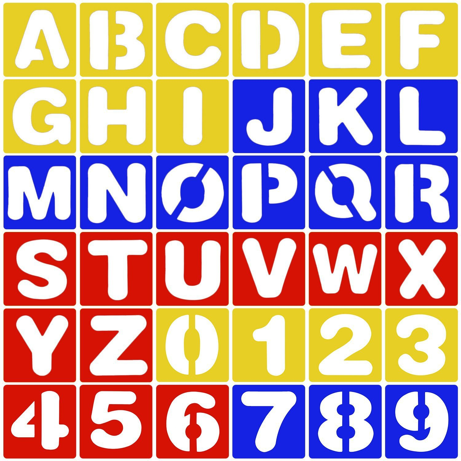 1 Set Letter Alphabet&Numbers Ruler Hollow Layering Stencils For Wall Painting Scrapbooking Stamping Embossing Album Decor