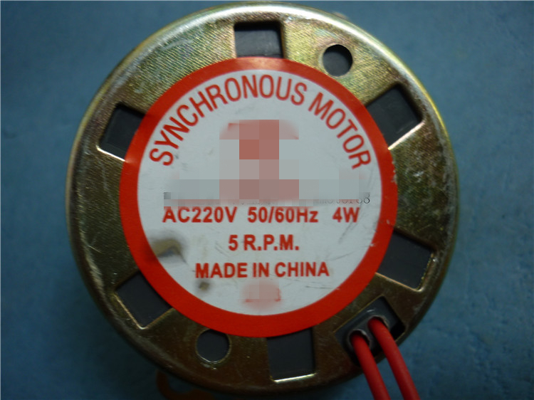TYD49 CW/CCW Round Claw-Pole Permanent Magnet Synchronous Motor 49TYD 220V 5RPM 15RPM 30RPM 33RPM Floor Fans Bobble Head thumbnail