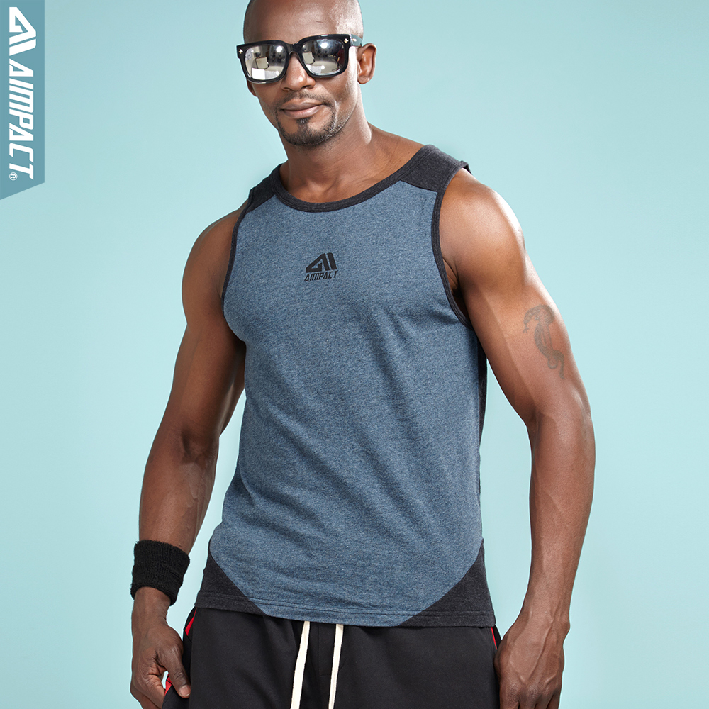 AIMPACT Men Athletic Workout Tank Top Mesh Dry Fit Casual Sleeveless Shirts