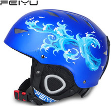 AS FISH Outdoor Child Kid Skiing Helmet Safety Integrally-molded Ski Snowboard Skateboard Cycling Camping