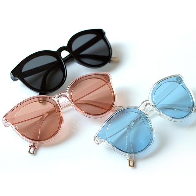 Легенда о море синий новый солнцезащитные очки хан издание женские очки Мода Большой очки ретро Винтаж Солнцезащитные очки для женщин