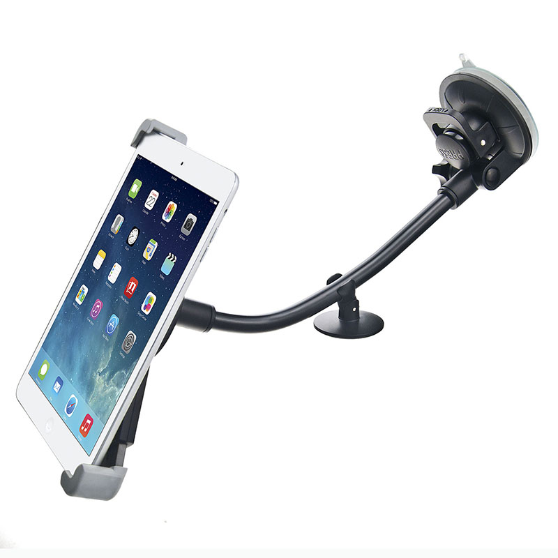 Universal 7 8 9 10 11 Inch Tablet Pc Stand for Samsung XiaoMi Stong Suction Tablet Car Holder for Ipad Lengthened Hose Bracket цена и фото