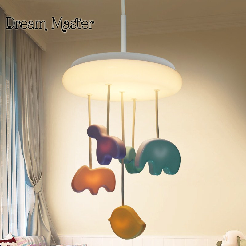 LED Night Light Chandelier children room decoration cartoon creative warm bedroom Dumbo Animal chandelier free shipping colorful waterdrop cartoon ombre led night light