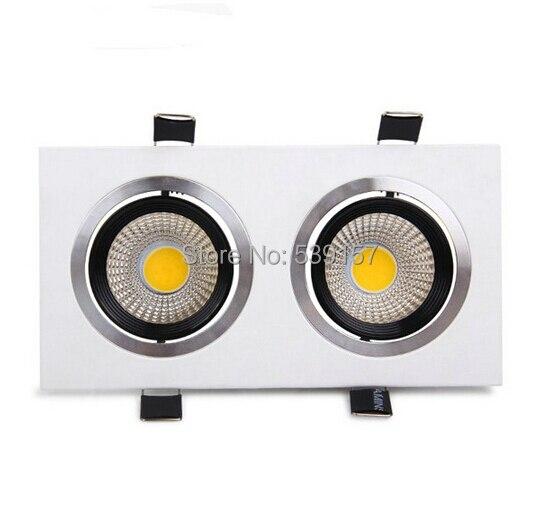 Бесплатная доставка 20 Вт двойной cob потолочный светильник Встраиваемые Кабинет лампы AC100-245V для Гостиная 10 шт./лот