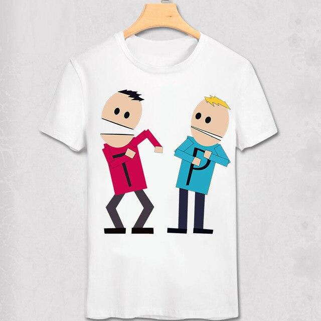 South Park T Shirt New York Geek Funny Design T-shirt Stan Marsh Kenny suck my ball Diy Cartoon Short Tee classic anime T shirt 4