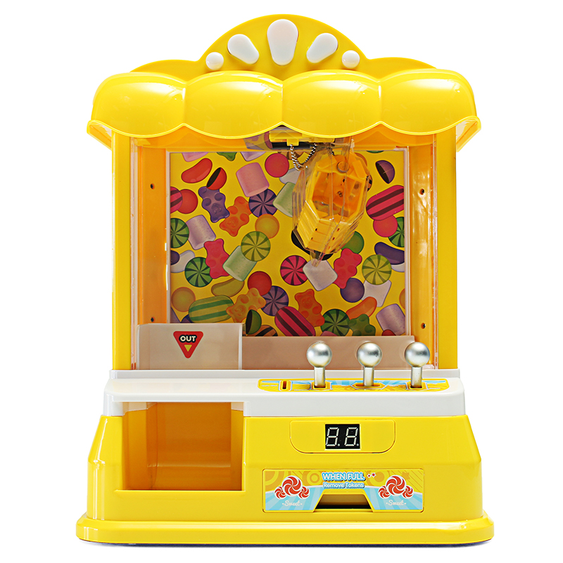 Mini USB Doll Machine Grab Ball Coin Candy Catcher For Kids Children Christmas Party Fun Toys 28*24*38cm
