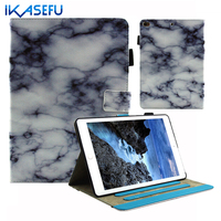 IKASEFU PU Leather Wallet Capa Case for ipad 5 6 Air II 2 Stand Coque Fundas Cover for ipad Air 1 2 Flip tpu Silicone back shell