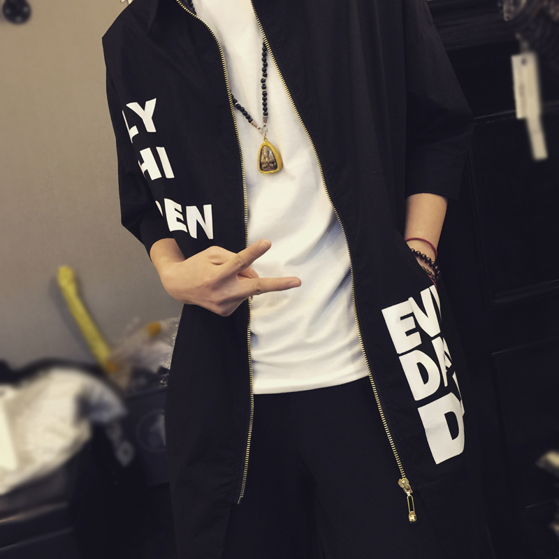 2017 Spring Korean Men Fashion Casual Shirts Half Sleeve Thin Print Shirts For Men & Women Hip Hop Loose Top Tee Men Clothing