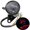 Universal DC 12V 0~160km/h Motorcycle LED Backlight Signal Dual Speedometer Odometer Gauge