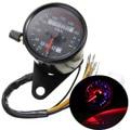 Universal DC 12V 0~160km/h Motorcycle LED Backlight Signal Dual Speedometer Odometer Gauge