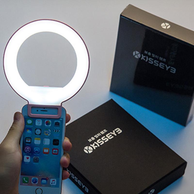 Prix pour Portable Clip-sur Mignon Belle LED Selfie Anneau Lumière Lampe Auto-Portrait Supplémentaires Fill-in Éclairage pour iPhone HTC Smartphone